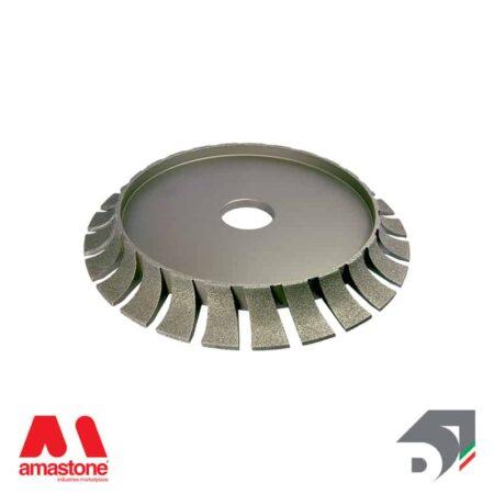 electroplated diamond wheel for bridge saw – profile b – half bullnose concave