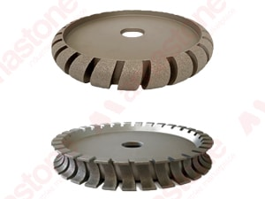 Diamond profile wheels for bridge saw