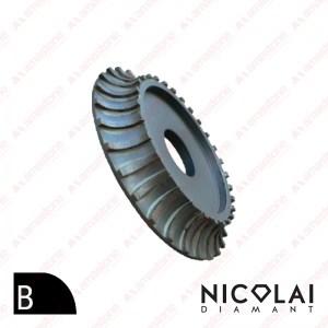 Segmented profiling wheel for bridge saw – Profile B – half bullnose concave