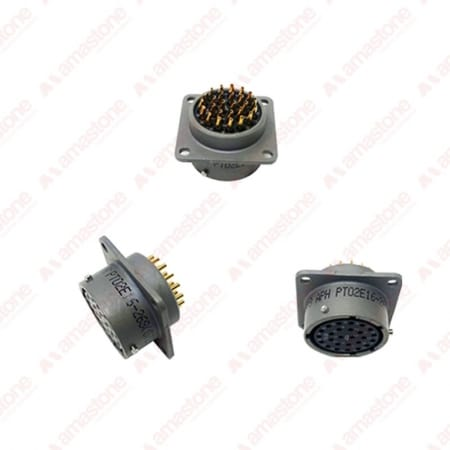 Panel female connector with 26 poles for Elcis handwheel