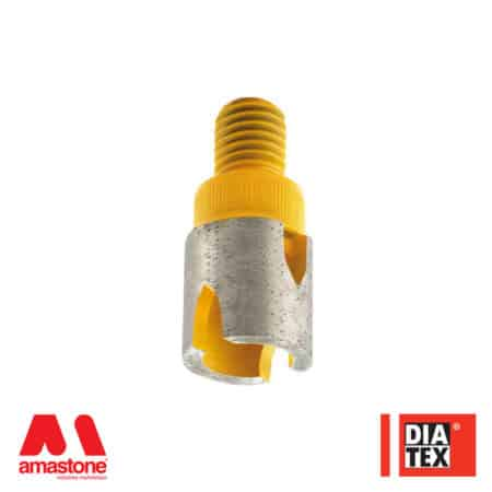 Incremental cutting finger bit tip for Ceramic - Diatex