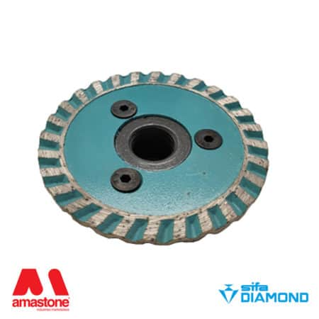 "Cutting blade with turbo crown for granite ""Mini Turbino – Diameter 65 mm – Sifa"