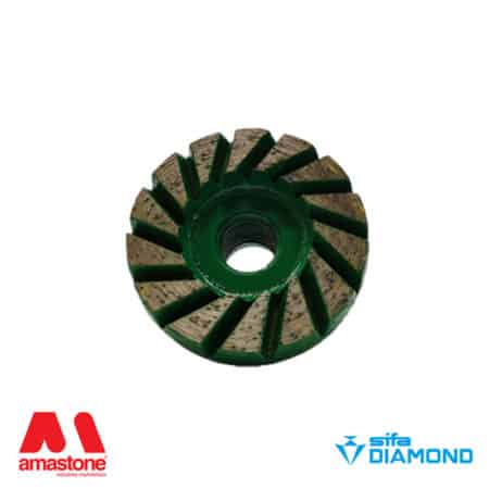 "Diamond cup wheel for granite ""Turbetto"" – Diameter 50 mm – Sifa"