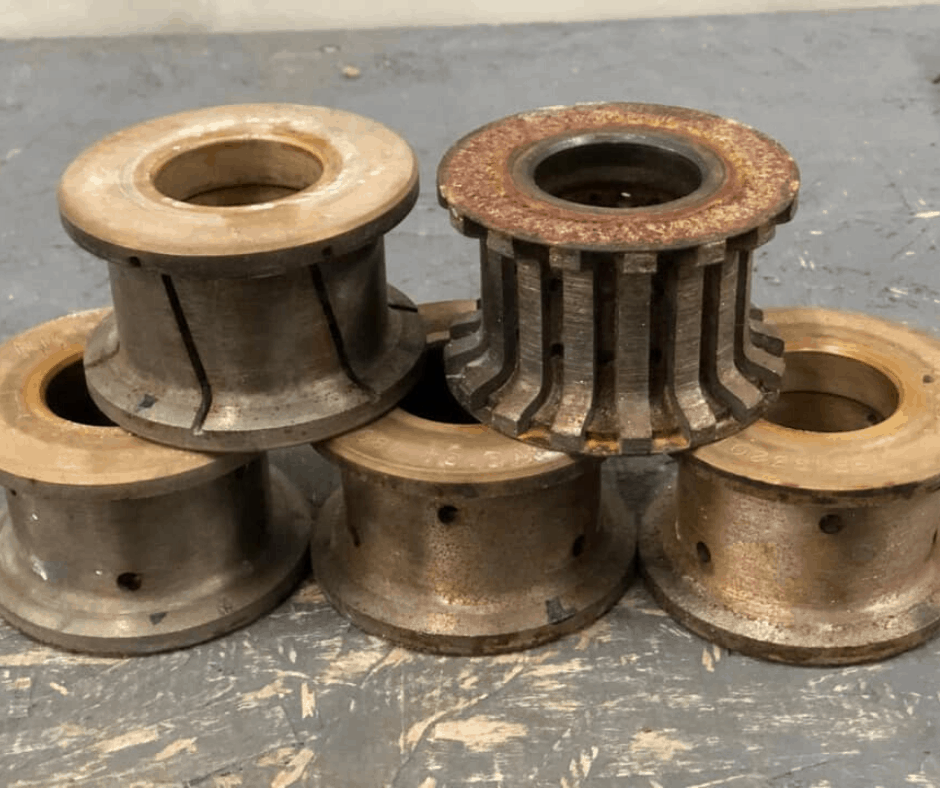 Before Redressing Granite Wheels