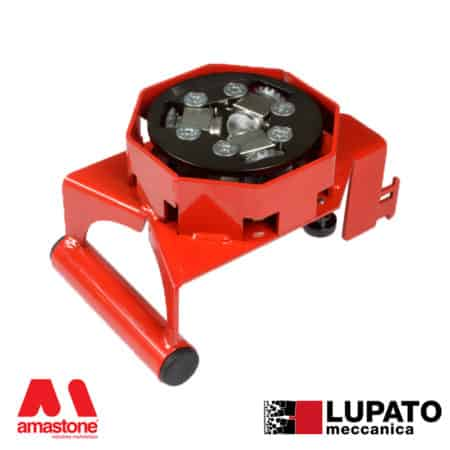 Angle-grinder bush-hammering plate - Tanga L4/1W20 with glide - Lupato