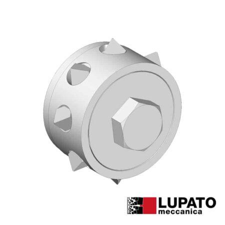Bush-hammering roller for marble Ø48 mm / 9 tips - Vor - Lupato
