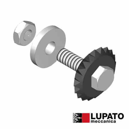 Bush-hammering roller - Tanga L4/1W20 - Lupato