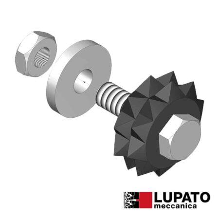 Bush-hammering roller - Tanga L4/2W10 - Lupato