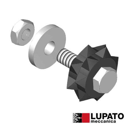 Bush-hammering roller - Tanga L4/2W7 - Lupato