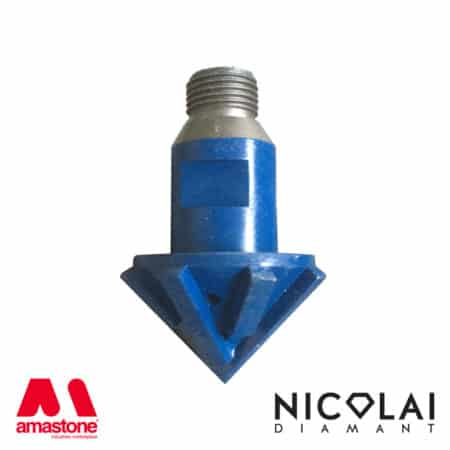 45° router bit for granite and quartz - Nicolai