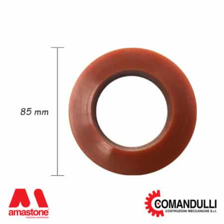 Rubber ring for slab holder wheels Comandulli