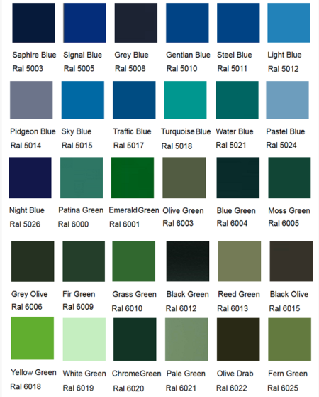 Silirub Color Ral Chart Amastone 2