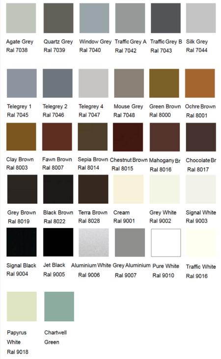 Silirub Color Ral Chart Amastone 4