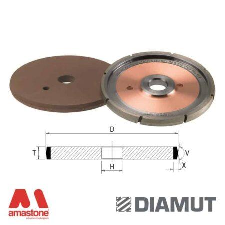 Wheels for grooving angle shape - Glass - Diamut