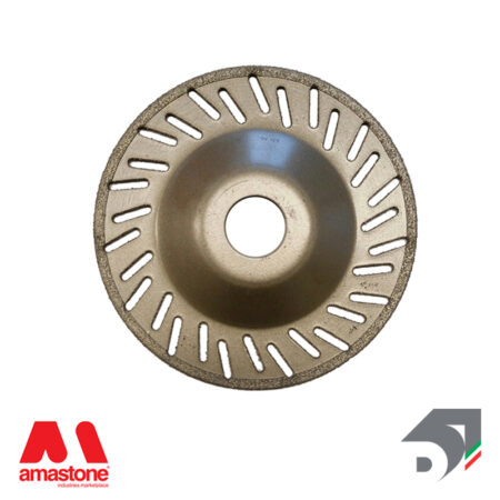 Electroplated ventilated pad for angle grinder - Diamar